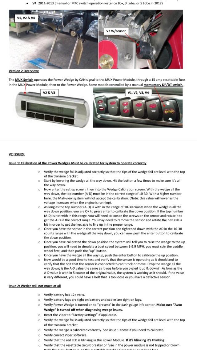 Wedge reset button - Maintenance, Tech Info & Troubleshooting -  TheMalibuCrew.com | Malibu Boat Fuse Box |  | The Malibu Crew